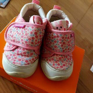 ホットビスケッツ 靴 花柄 13.5センチ