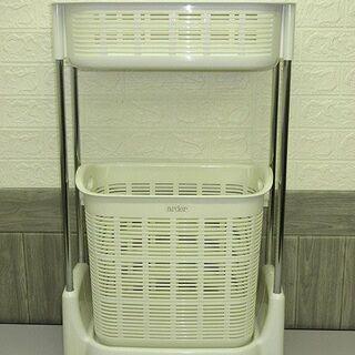 stp-0514 ランドリーバスケット 2段 洗濯かご キ…