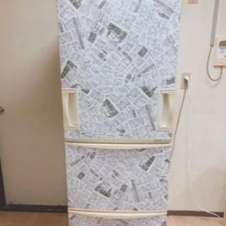 【取引中】3ドア冷凍冷蔵庫345L 両開き