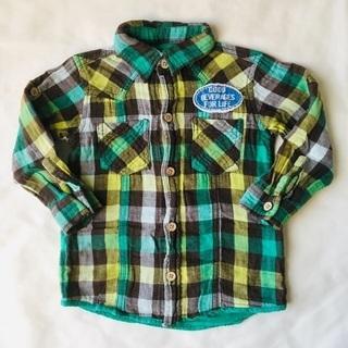 STRANGE HEAVEN / 長袖チェックシャツ / 95サイズ