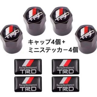 【ネット決済・配送可】TRDエアーバルブ、TRDミニステッカー