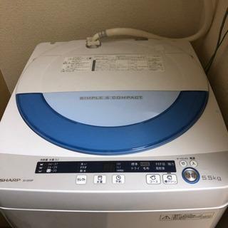 SHARP 洗濯機 5.5kg (無料)