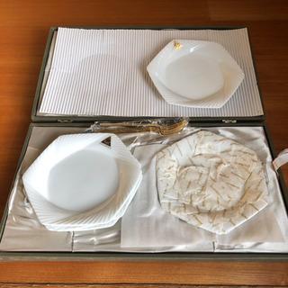 デザート皿&フォーク 5枚セット