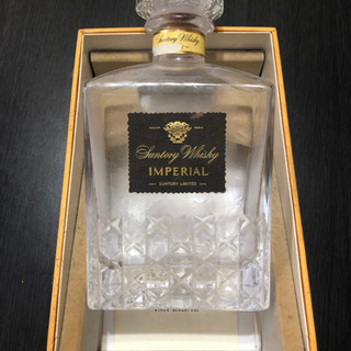 空瓶 サントリーウイスキー インペリアル カガミクリスタル デキャンタ