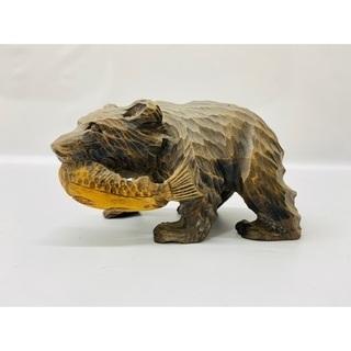 🐻木彫り熊 木彫 置物 木製 伝統工芸品 北海道🐻