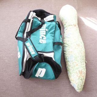 プリンステニス大型ダッフルバッグと抱き枕