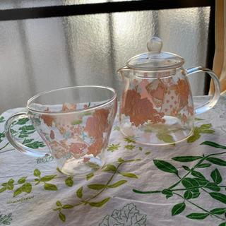 アリスの急須とカップ(耐熱)
