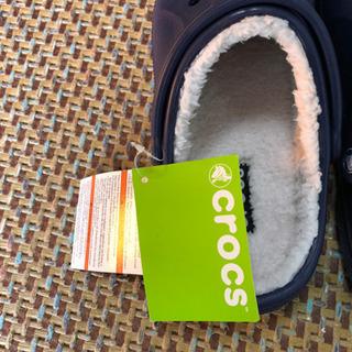 クロックス 未使用 レイレンラインド クロッグ ネイビー 26cm - 靴/バッグ