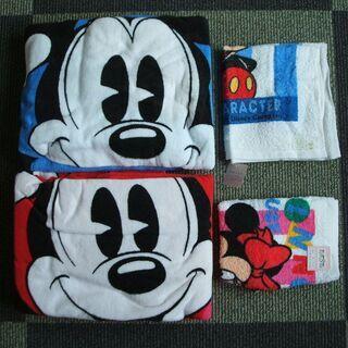 ミッキーとミニーのバスタオルとおしぼり5点セット