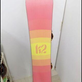 新札幌発 K2 JUJU SLIM スノーボード板 138㎝ ビンディング付  − 北海道