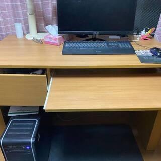 【ネット決済】ダイニングテーブル パソコンデスク(木製)
