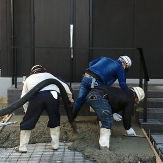 土間コンクリート打設します 駐車場・ガレージ・家回りの犬走…