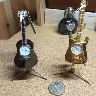 Dude ギター置き時計 2個 電池新品