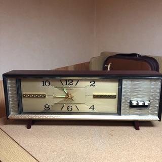 年代物 セイコー ゼンマイ式 2石 目覚まし 置き時計