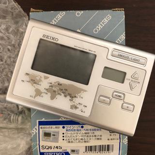 【お譲り先決定】SEIKO 電波目ざまし時計