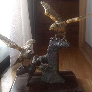 置物 親子鷹