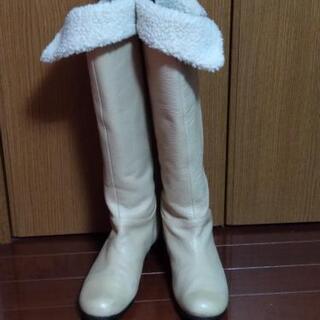 MERV 天然皮革 ニーハイロングブーツ