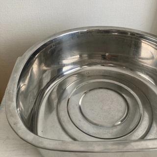洗い桶 ステンレス タライ - 生活雑貨