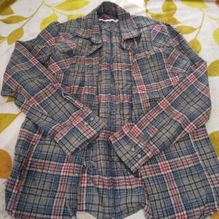 ブラウン系チェックシャツ(メンズ)