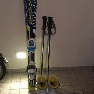 スキーセット スキー板100 ブーツ18cm ストック80…