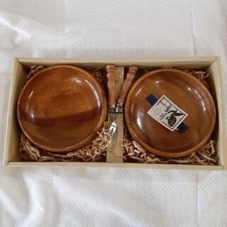 木製のサラダボールとフォークのセット  JTY212