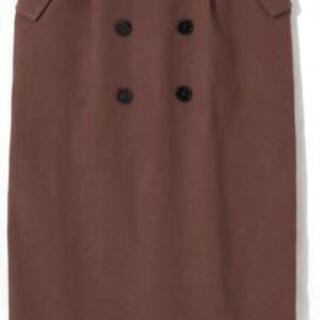 可愛い✨ベルト付トレンチタイトスカート Mサイズ ブラウン