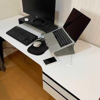 【ネット決済】広めのパソコンデスク(150cm×54cm×72cm)