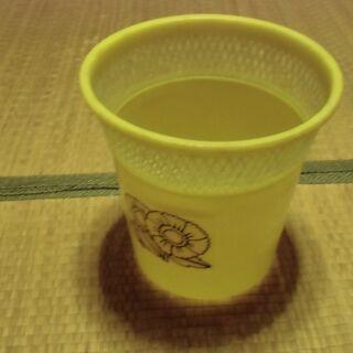 ●無料● 昭和レトロ 黄 ごみ箱 差し上げます。*石川県*…