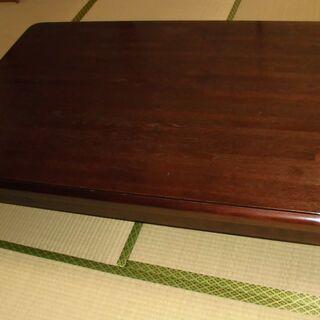 木製 折りたたみ脚 大型 座卓 幅1350mm×奥行850㎜×高...