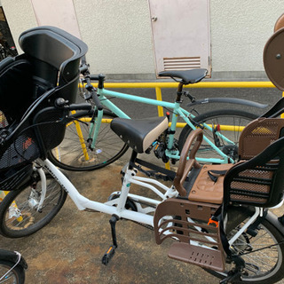 【値下しました】前後子供乗せ自転車 3人乗り