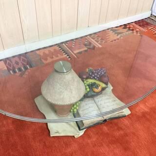ガラステーブル 回転テーブル 丸テーブル サイドテーブル リビン...