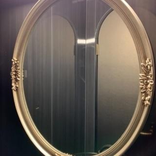 化粧鏡 壁掛け鏡 ミラー アンティーク風 おしゃれ
