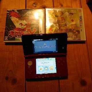 ※お取引中※3DS本体&ソフト(ポケモンY、牧場物語)2本セット