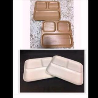 ランチプレート皿(木製と陶器)❤4枚セット展示品処分❤