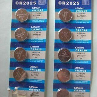 未使用 コイン、ボタン電池 CR2025 9個