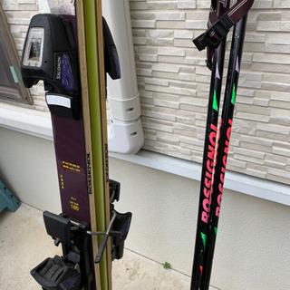 スキー板 ストックセット
