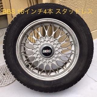 BBS 4本・16インチ・スタッドレスタイヤ・6.5JJ・…
