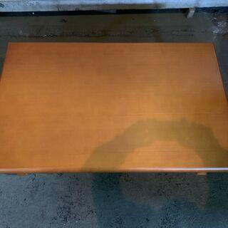 ニトリ 折りたたみテーブル 木製 ウレタン樹脂塗装 格安 早いもの勝ち 配送OK - 家具
