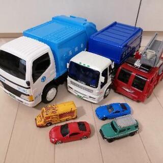 働く乗り物 清掃車 消防車 トミカ ミニカー