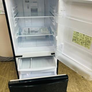 シャープ黒二段式冷蔵庫