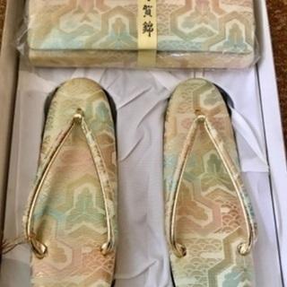 【新品・未使用品】和装用 バッグ2つ+草履セット