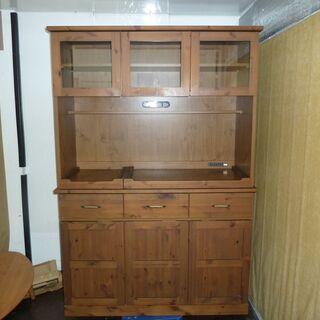 k126☆食器棚・レンジボード☆アンティーク風☆今村家具工芸☆近隣配達、設置可能の画像