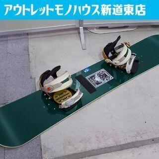 ライド スノーボード 143cm バインディング バートン グリ...