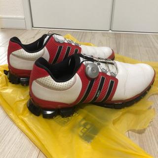 ゴルフシューズ adidas ボア 27.5cm 中古