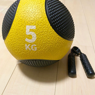 【ほぼ新品】メディシングボール、ハンドグリップ