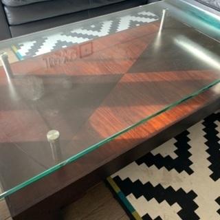 クラスティーナ ガラスローテーブル