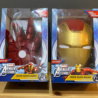 【新品未使用】アイアンマン 壁掛け用マスク&アームセット
