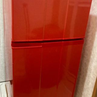 冷蔵庫 あげます 2ドア 差し上げます 赤 レッド Red