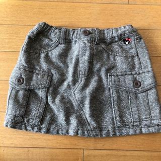 ミキハウス 110 コーデュロイスカート 台形スカート