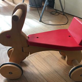 木製うさぎのミニ自転車